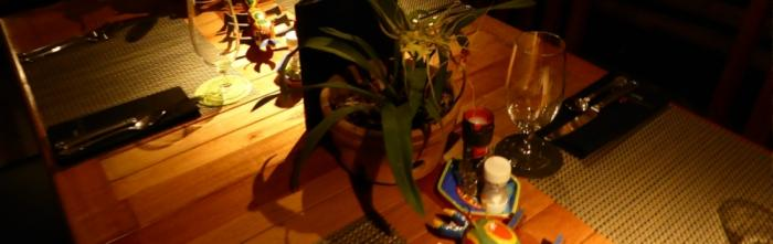 Another orchid at dinner - a welcome guest