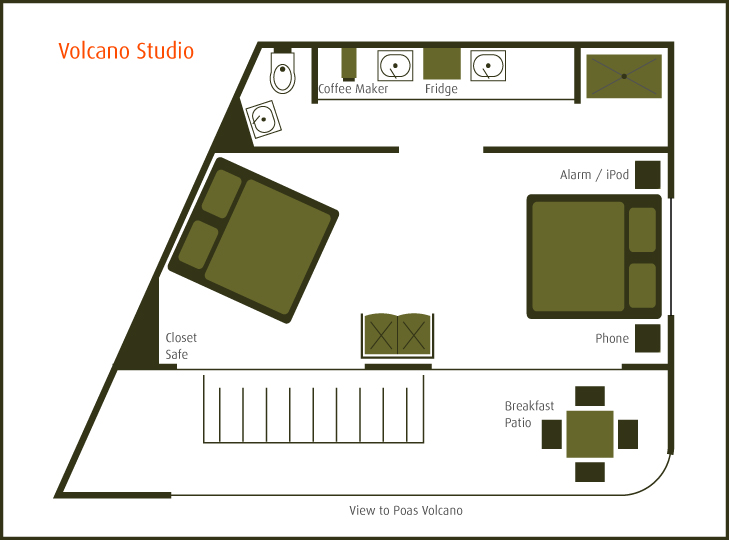 Layout of room for rent near SJO